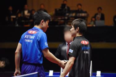 2019年アジアカップで日本人対決した丹羽選手と張本選手