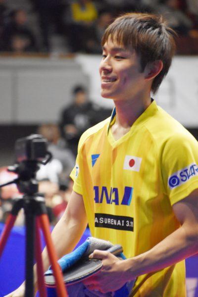 2019年アジアカップでの丹羽孝希選手