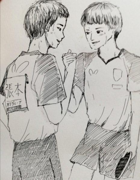 「張本智和選手、戸上隼輔選手」〈ひとみ〉さん